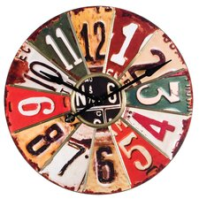 """Oversized 29"""" License Plate Wall Clock"""