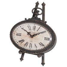 Oval Pocket Watch Table Clock
