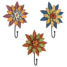 Flower Metal Wall Hook (Set of 3)