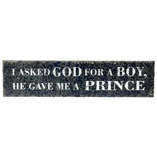 '...Prince' Textual Art Plaque