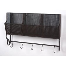 Wall Shelf with Hooks