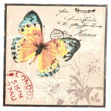 Butterfly Gunny Framed Graphic Art