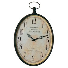 "<strong>Wilco</strong> 12.5"" Pocket Watch Wall Clock"