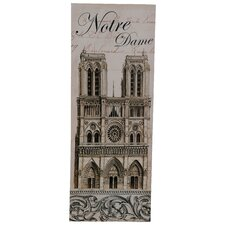 'Notre Dame Church' Vintage Advertisement Plaque