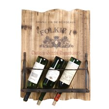 <strong>Wilco</strong> 4 Bottle Wall Mount Wine Rack