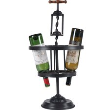 Corkscrew 6 Bottle Tabletop Wine Rack
