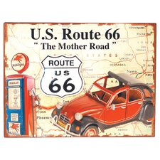 'U.S. Route 66' Vintage Advertisement Plaque