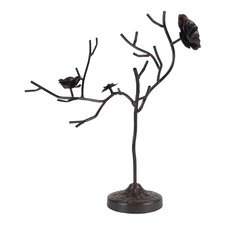 Rose Tree Metal Jewelry Holder