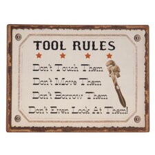 'Tool Rules' Textual Art Plaque