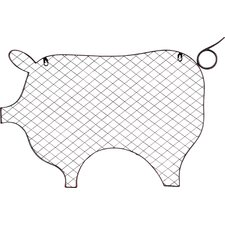 Pig Metal Wall Memo Picture Frame