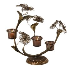 Flowers Metal Candelabra