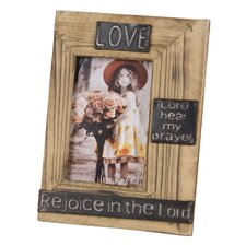 "Wood ""Love"" Picture Frame"