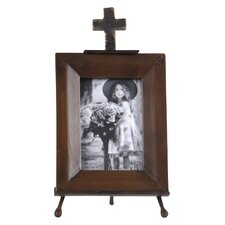 Cross Metal Picture Frame