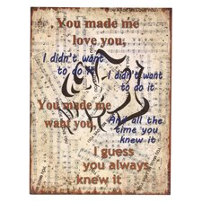 'You Made...' Graphic Art Plaque