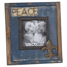 "Wood ""Peace"" Picture Frame"