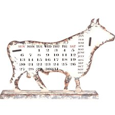 <strong>Wilco</strong> Cow Metal Calendar Decor