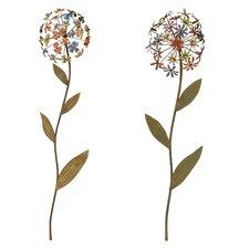2 Piece Flower Décor Set