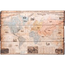 World Map Wood Wall Plaque