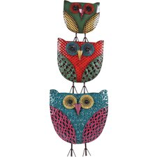 Owls Metal Wall Decor