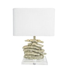 "Shimmering Silver Cabo 23"" H Table Lamp with Rectangular Shade"