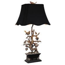 Golden Glamour 1 Light Bonsai Tree and Bird Table Lamp