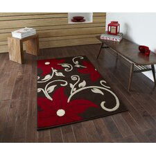 Modena Brown/Red Budget Rug