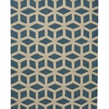 Hong Kong Teal/Beige Tufted Rug