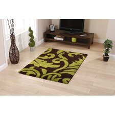 Majesty Brown/Green Shaggy Rug
