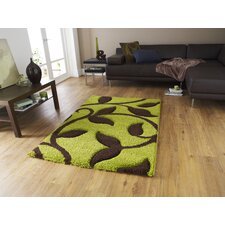 Fashion Carving Green/Brown Hand Carved Rug