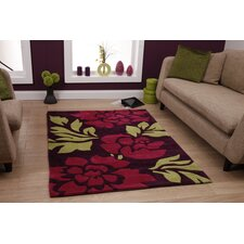 Hong Kong Purple/Red Tufted Rug
