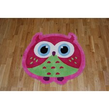 Hong Kong Owl Pink Tufted Rug
