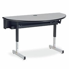 "Future Access 48"" W x 24"" D Half Round Computer Table"