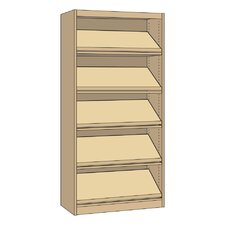 """Single-faced Periodical Starter Library 82"""" Bookcase"""