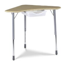 "Zuma Hard Plastic 22"" Student Desk With Tote Tray Rail"