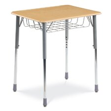 Zuma Series Student Desk with Wire Book Basket