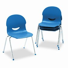 I.Q. Series Armless Stacking Chair (Set of 4)