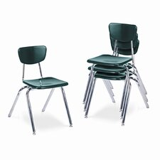 "3000 Series 18"" Plastic Classroom Stackable Chair"
