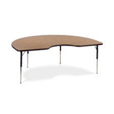 "<strong>Virco</strong> 4000 Series Activity Table with 72"" Kidney Shaped Top"
