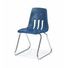 "<strong>Virco</strong> 9000 Series 16"" Plastic Classroom Sled-Based Chair"