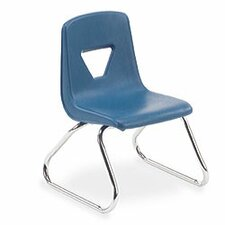 "2000 Series 12"" Polypropylene Classroom Sled Stacking Chair"