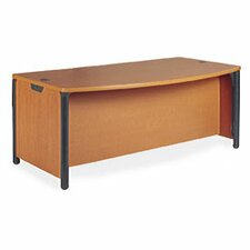 "<strong>Virco</strong> Plateau Office 60"" W Bow Front Executive Desk"