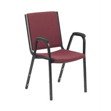 Comfort Stacker Chair with Arms in Burgundy