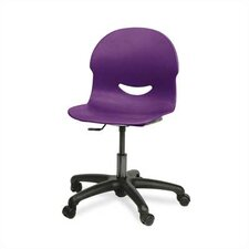 "I.Q. Series 17"" Plastic Classroom Mobile Task Chair"