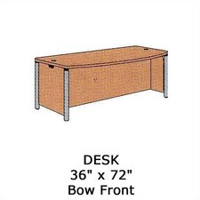 "Plateau Office 72"" W Bow Front Executive Desk"
