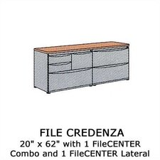 Plateau Office Series File Credenza with 1 Lateral