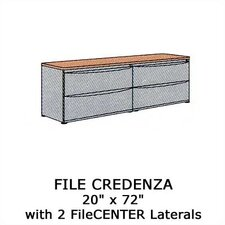 Plateau Office Series File Credenza with 2 Laterals