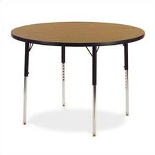 "<strong>Virco</strong> 4000 Series 42"" Round Activity Table with Fully Chrome Short Legs"