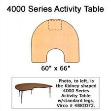 4000 Series Horseshoe Activity Table with Wheelchair Legs