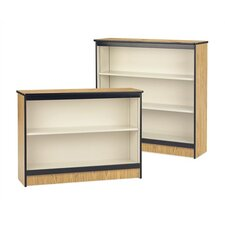 "36"" H Steel Frame Bookcase with Laminated Surface"