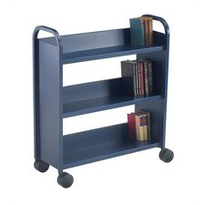 Library Truck with 3 Sloping Shelves